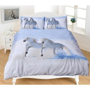 White Horses Doona Bed Set