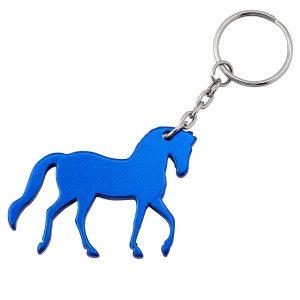 Pranching Horse Keyring Blue