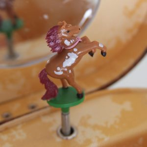 Oval Dashing Horse Jewellery Box