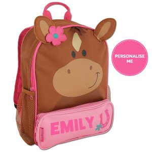 Sidekick horse backpack personalisation