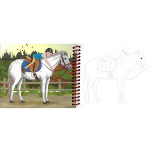 Horse Dreams Pocket Colouring in book