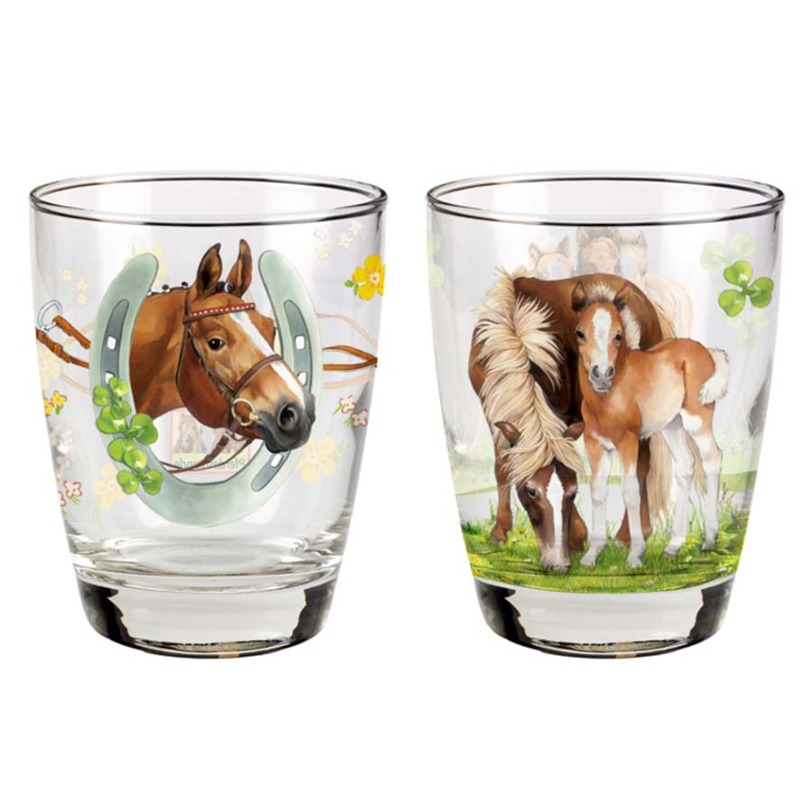 Set Of 2 Horse Drinking Glasses Filly And Co Horse Gifts