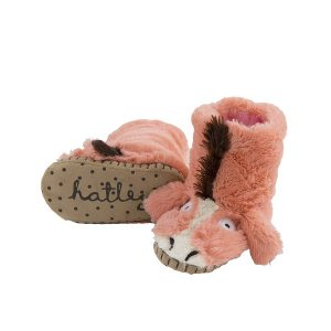Hatley Pink Horse Slouch Slipper