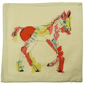 Colourful Foal cushion