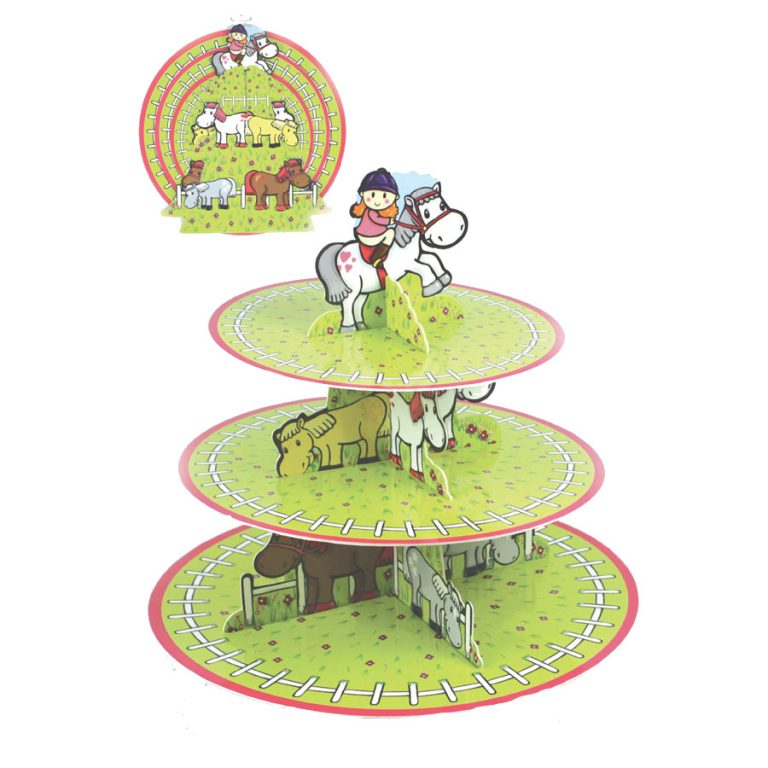 Pony Pals 3 tier cupcake stand