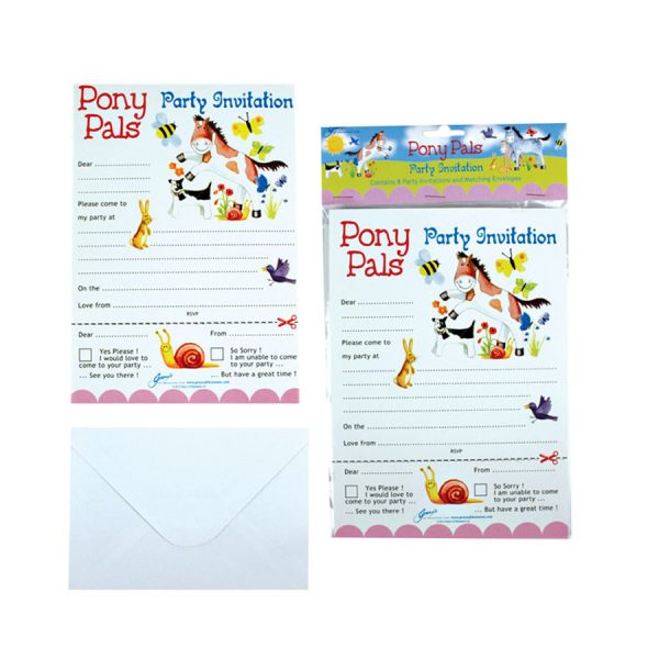 Pony Pal Party Invites