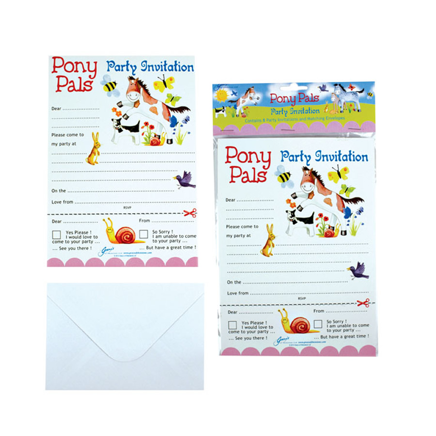 Pony Pal Party Invites