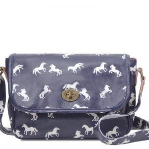horse handbag navy