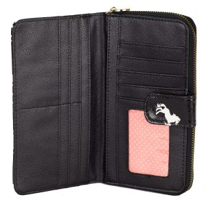 Black Horse Compartment Wallet