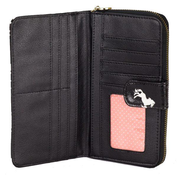 Black Horse Compartment Wallet