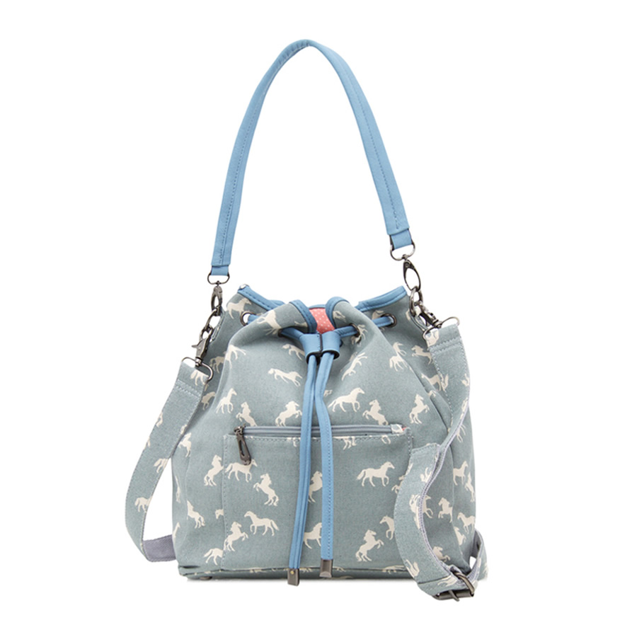 33f56246021 Horse Bucket Bag - Light Blue - Filly and Co Horse Gifts