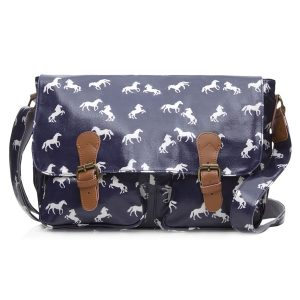 cross body horse satchel Navy