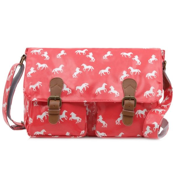Large Horse Satchel Pink