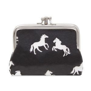 Double Clip Horse Purse Black