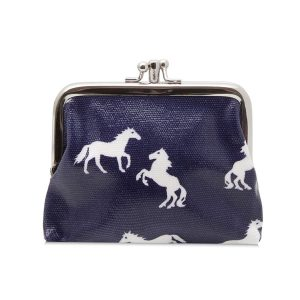 Double Clip Horse Purse Navy