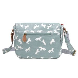 horse handbag in light blue