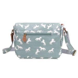 horse handbag in light blue