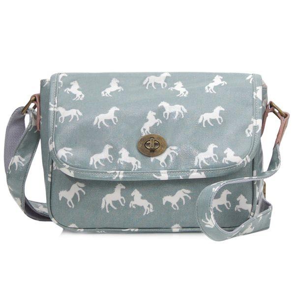 Light Blue Cross Body Handbag