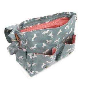 Horse Satchel Light Blue