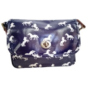 Navy Blue Horse Handbag