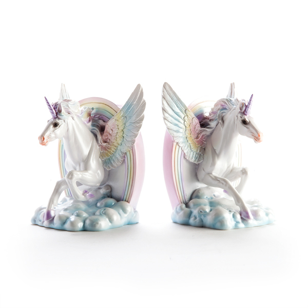 Flying Unicorn Bookends Filly And Co Horse Gifts