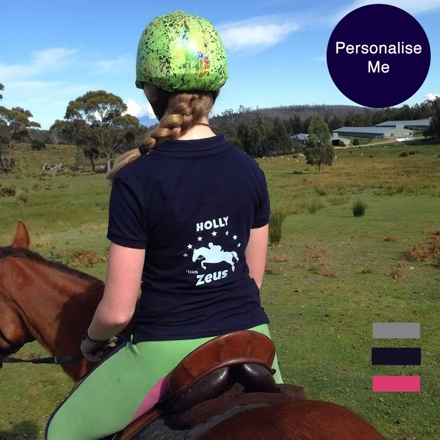 Jumping Horse Personalised Polo