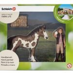 Schleich Foal Cleaning Mini Playset