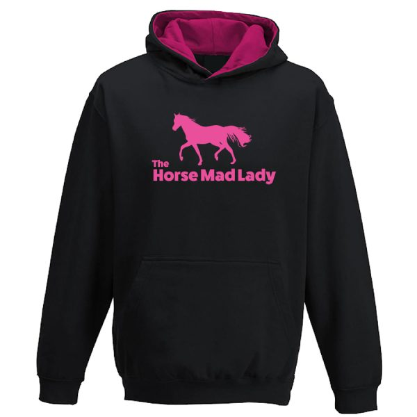horse mad lady hoodie