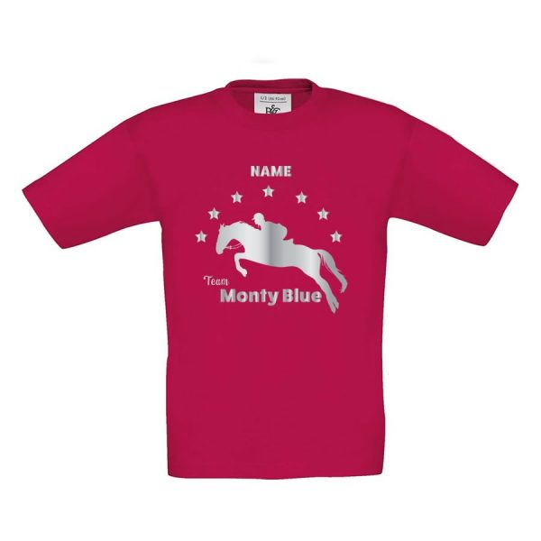 jumping horse personalised tee
