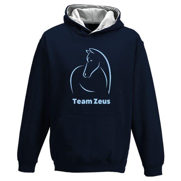 Line horse personalised hoodie