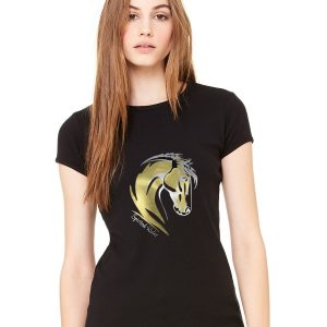 gold two tone horse crew ladies