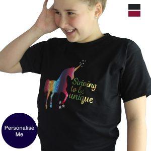 Striving to be unique unicorn tee