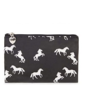 Horse Pouch Purse Black