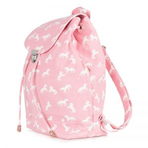 canvas horse backpack pink