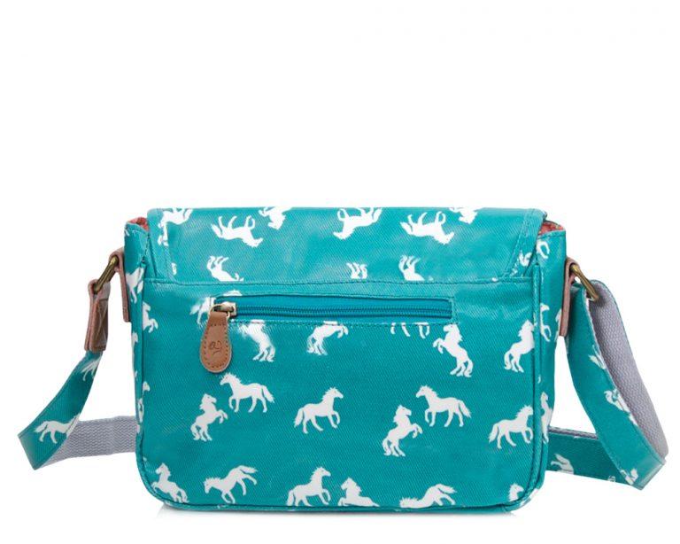 aqua horse handbag