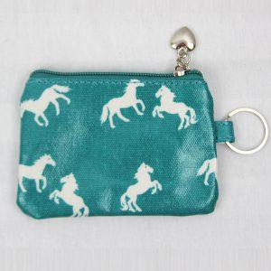 aqua horse coin purse
