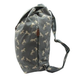 Blue Horse canvas backpack side