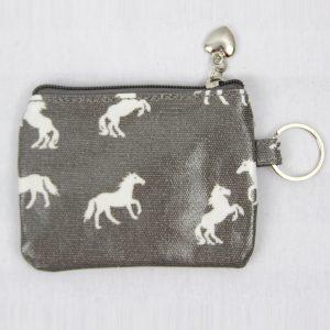 horse coin purse grey