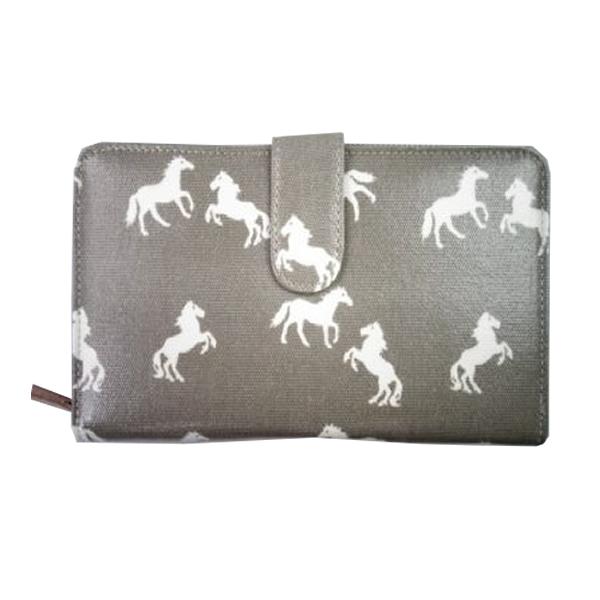 Grey wallet horses