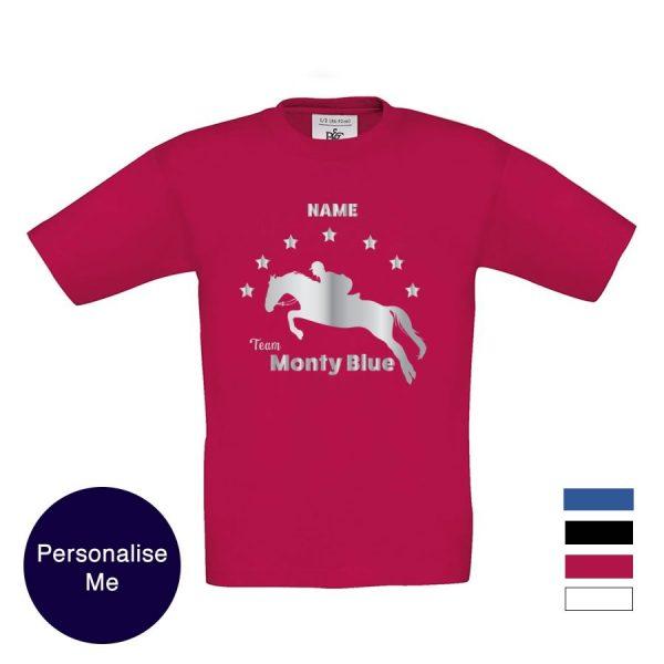 jumping horse personalised tshirt