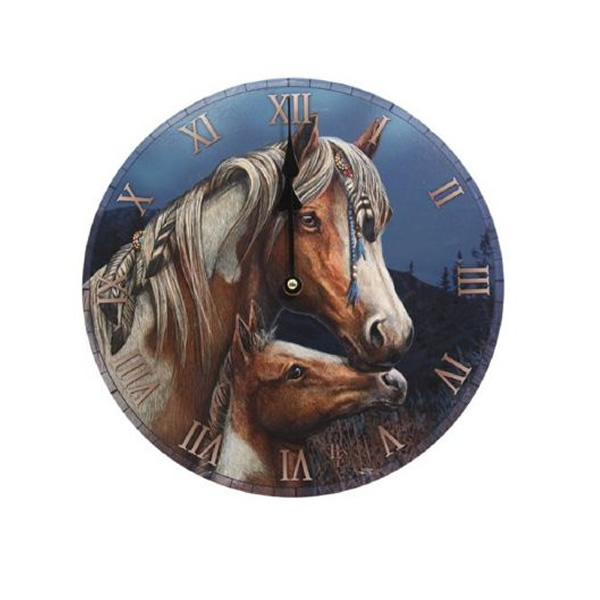 Apache Horse Clock Filly And Co Horse Gifts
