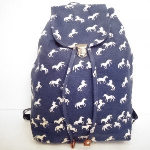 Navy Blue Horse Backpack