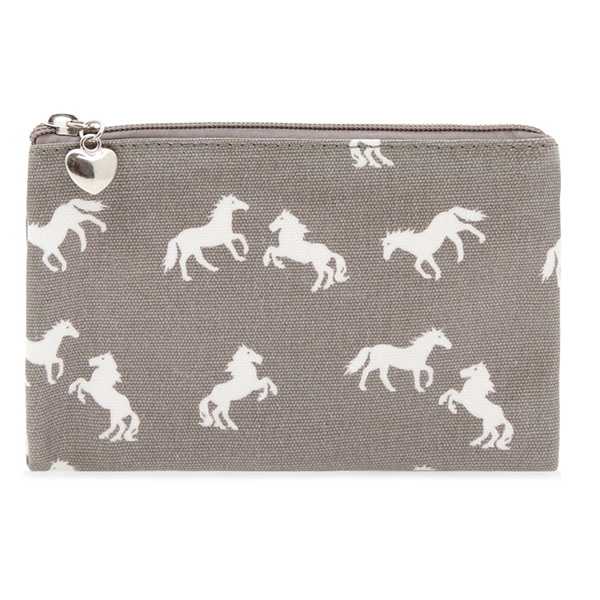 Grey Horse Pouch Purse
