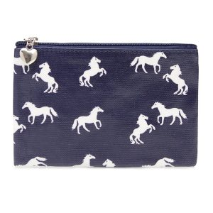 Navy Horse Pouch Purse