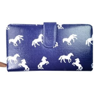 Navy Horse Wallet