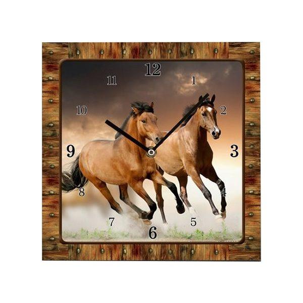 Two Horses Clock