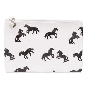White Horse Pouch Purse