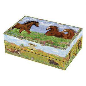 prairie horse music box