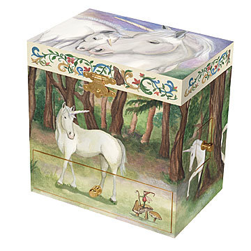 Unicorn music box large