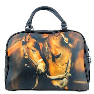 mare and foal overnight felt bag